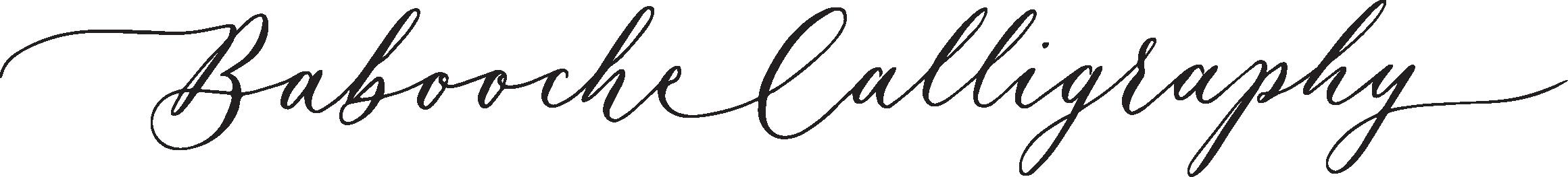 Babooche Calligraphy